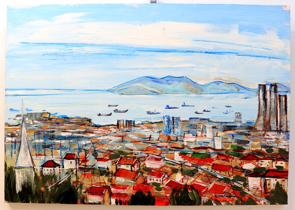 Kazak asıllı resim sanatçısı, tasarımcı ve kentsel nominalizm temsilcisi, Zhanara Sabdenova İstanbulun Renkleri yağlı boya resim sergisiyle Maltepe'de!